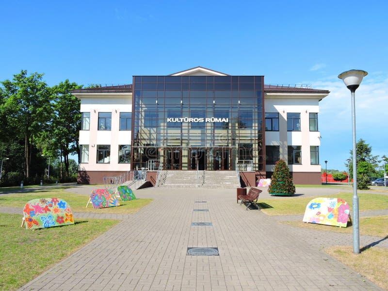 Taurage镇文化中心,立陶宛 免版税库存照片