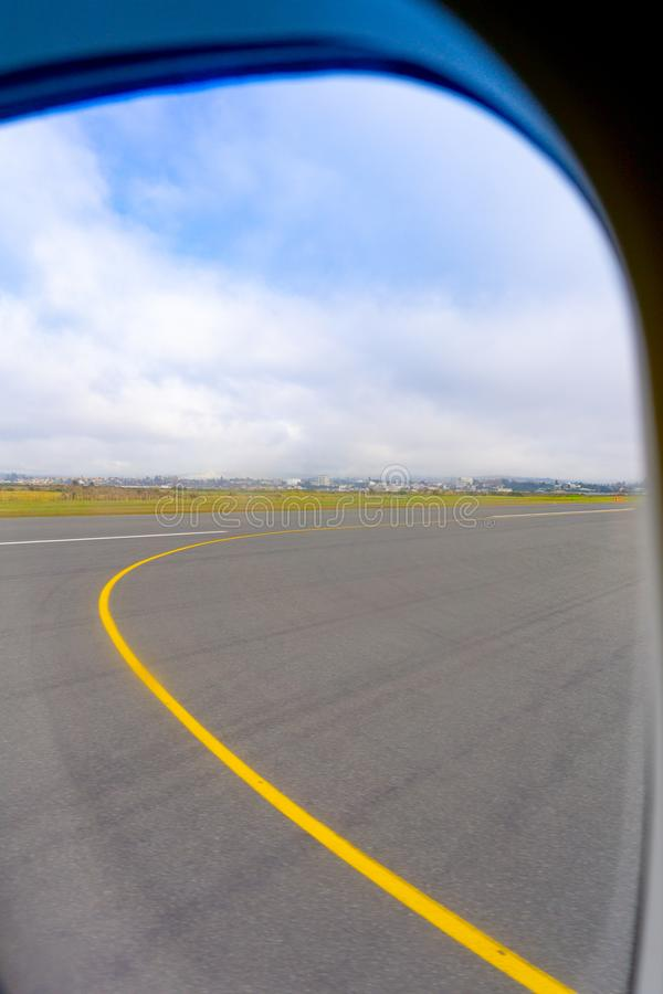 Tauranga flygplatslandningsbana arkivbild