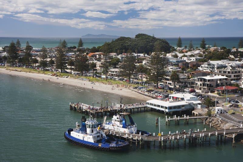 Tauranga-Hafen lizenzfreie stockfotos
