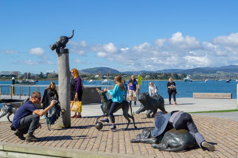 Fictional characters of Dame Lynley Dodds childrens story book i. TAURANGA NEW ZEALAND - SEPTEMBER 1 2018; People enjoy fictional characters of Dame Lynley Dodds stock images
