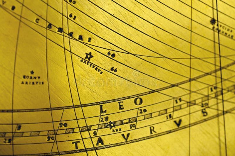 Taureau antique de Lion de planétarium illustration de vecteur