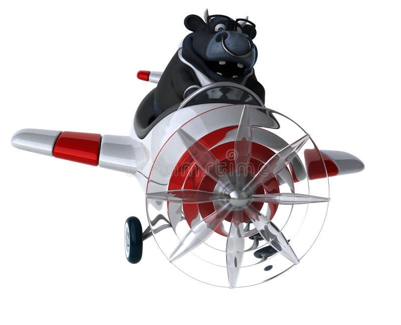 Taureau d'amusement - illustration 3D illustration libre de droits