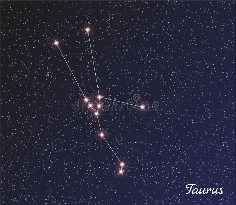 Taureau de constellation illustration stock
