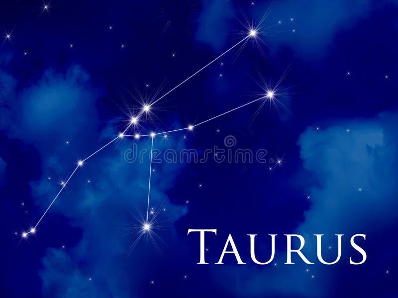 Taureau de constellation illustration de vecteur