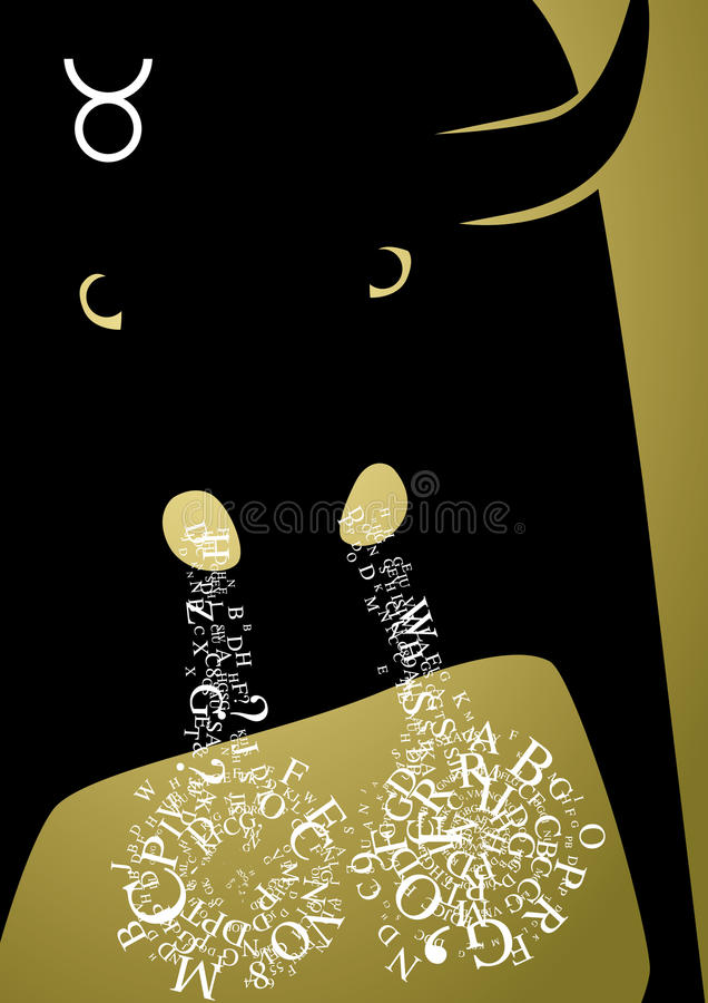 Taureau de signe de zodiaque illustration stock