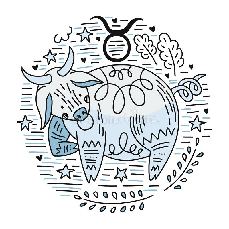 Taureau de Signes de zodiaque illustration libre de droits