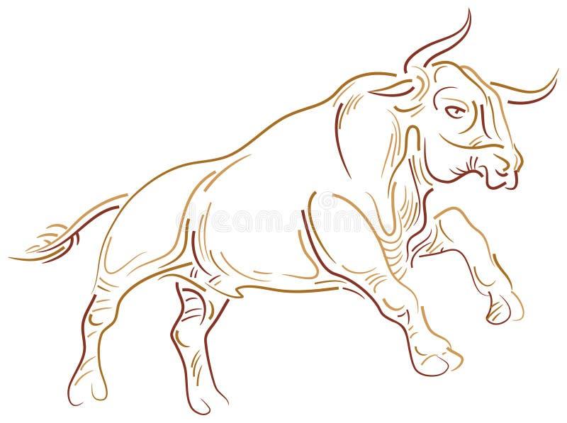 Taureau sautant illustration de vecteur