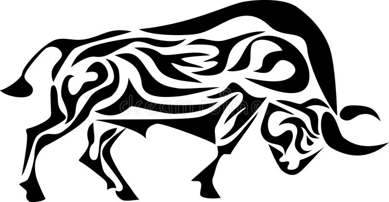 Taureau tribal illustration stock