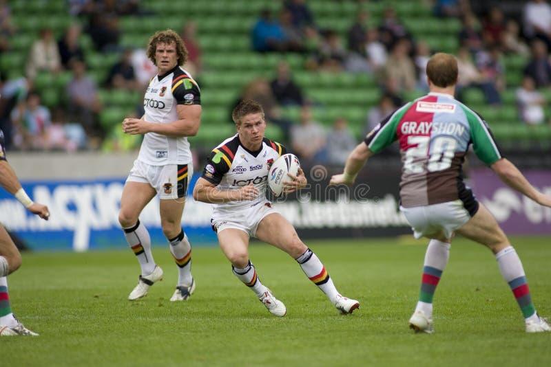 Taureaux de la ligue v Bradford de rugby de harlequins images stock
