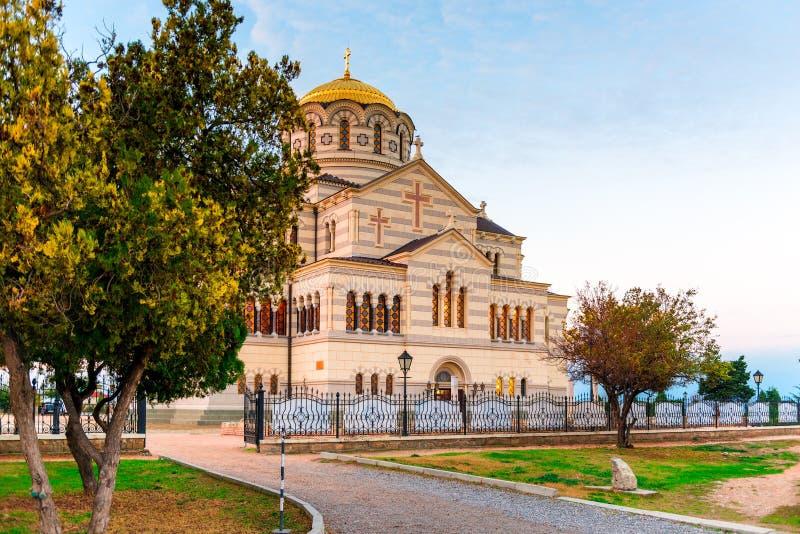 Tauric Chersonese - Vladimir Cathedral in Chersonesos Orthodox C stock foto's