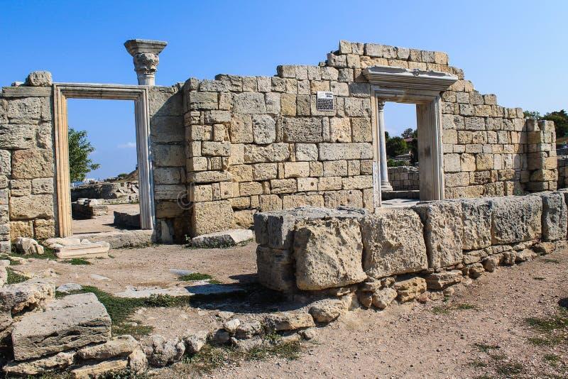 Tauric Chersonesos, coto nacional al oeste de Sevastopol fotos de archivo libres de regalías