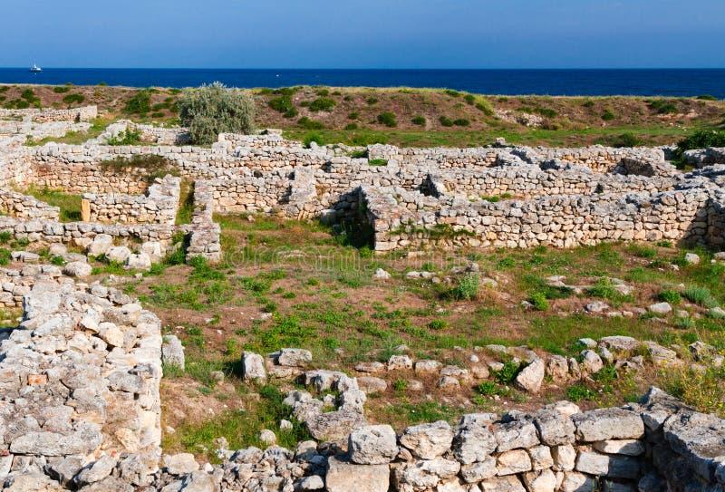 Taurica do chersonesus da cidade do grego clássico na cidade de sevastopol fotos de stock