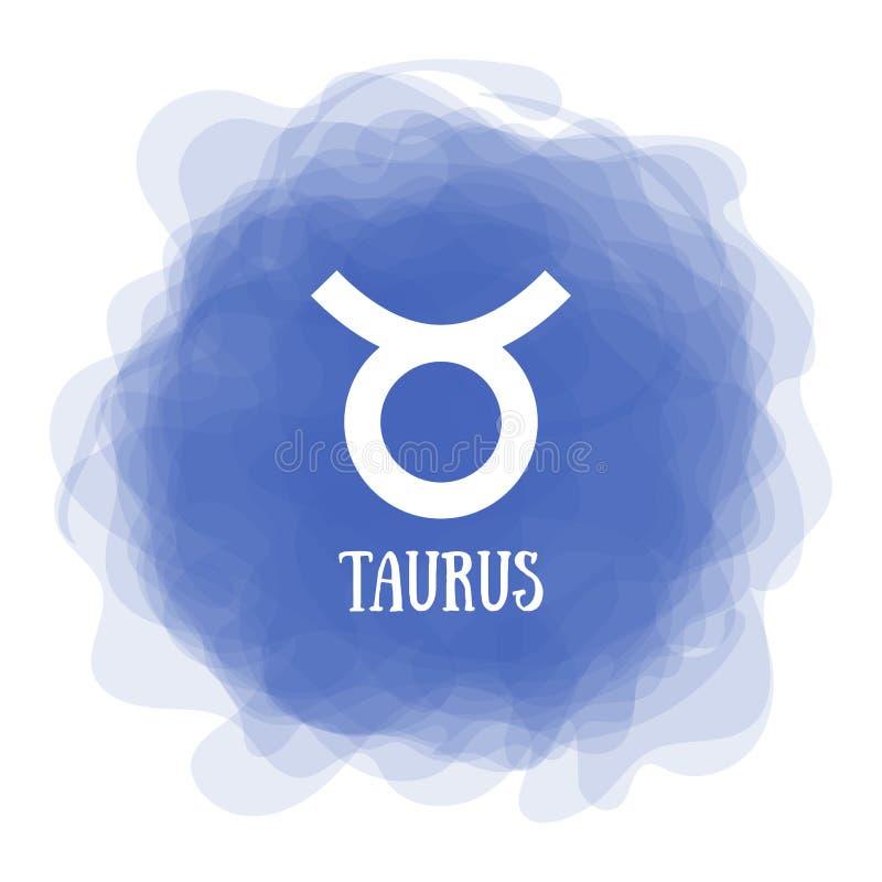 Tauro Muestra del zodiaco Calendario astrológico Horóscopo zodiacal del vector del color Círculo ahumado Línea símbolo libre illustration