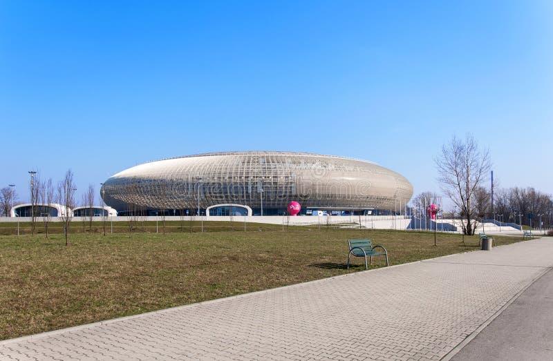Tauron竞技场在克拉科夫,波兰 库存图片