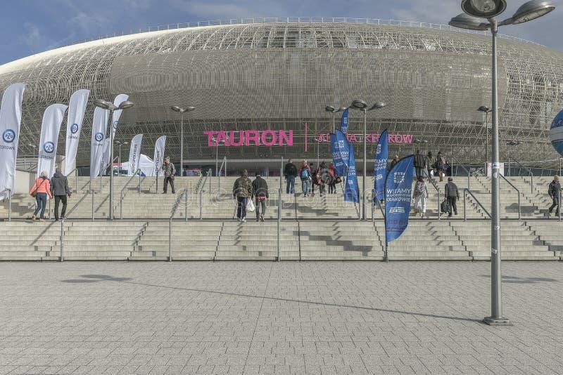 Tauron Arena in Krakow, Poland stock photos