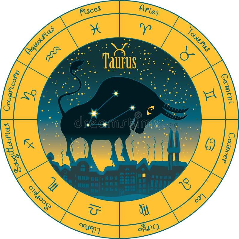 Taurus σημάδια zodiac ελεύθερη απεικόνιση δικαιώματος