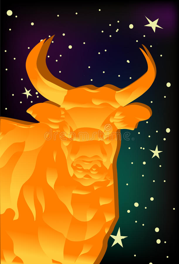 Taurus, Bull ilustração do vetor