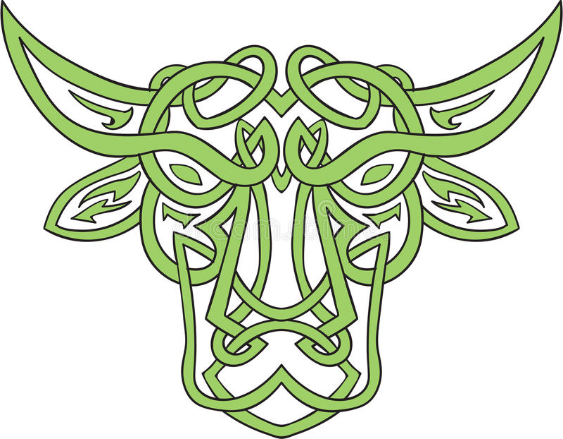 Taurus Bull Celtic Knot stock illustratie