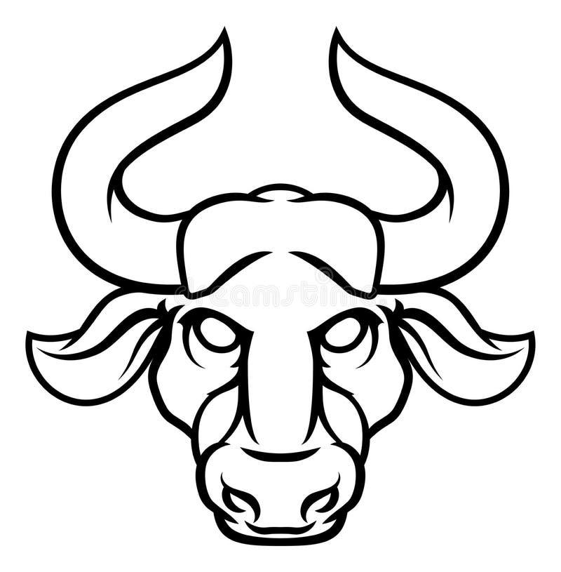 Taurus Bull Zodiac Horoscope Sign illustrazione di stock