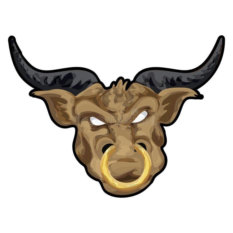 Taurus con il percorso di residuo della potatura meccanica illustrazione di stock