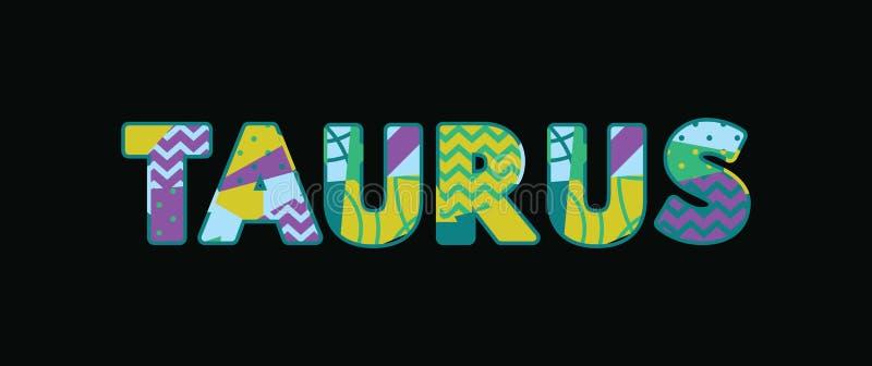 Taurus Concept Word Art Illustration stock de ilustración