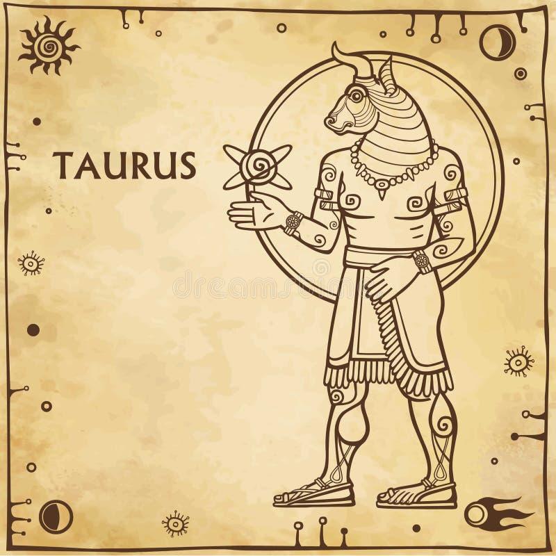 Taurus del segno dello zodiaco illustrazione di stock