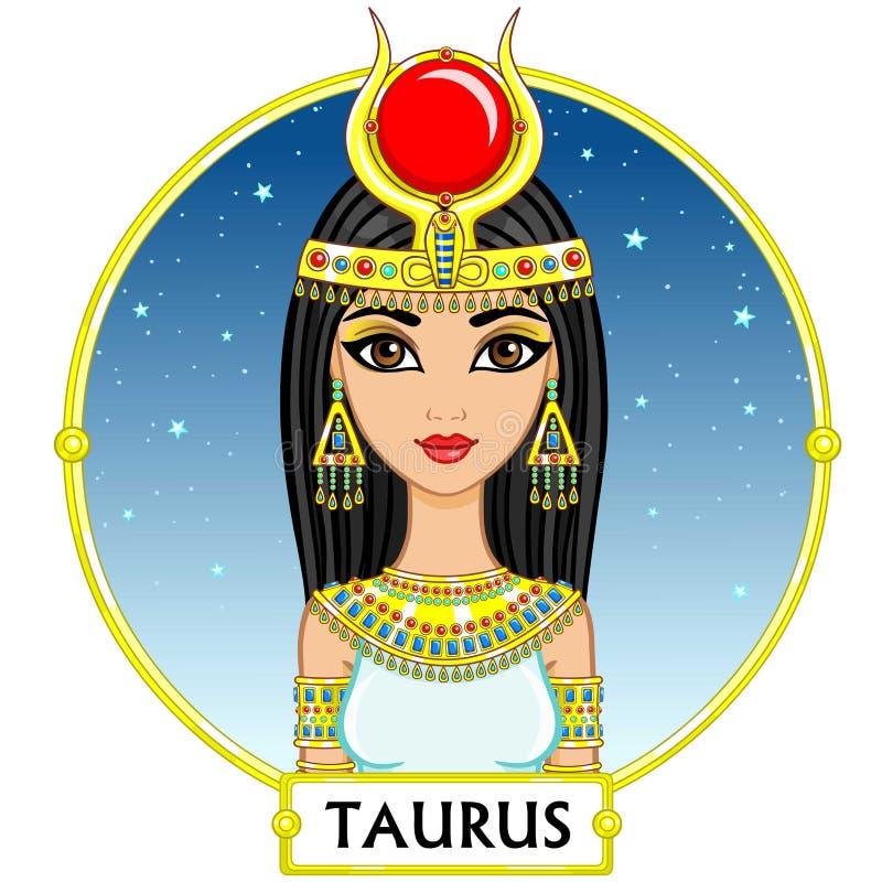 Taurus do sinal do zodíaco ilustração royalty free