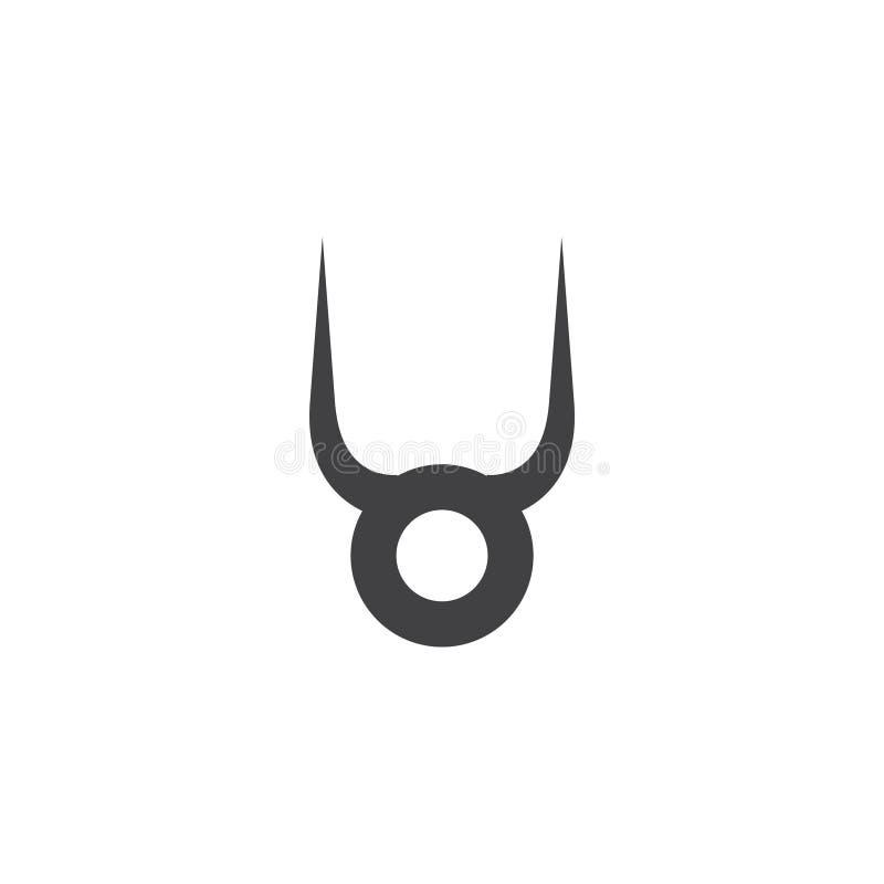 Taurus grafische ontwerpsjabloon vector geïsoleerde illustratie stock illustratie
