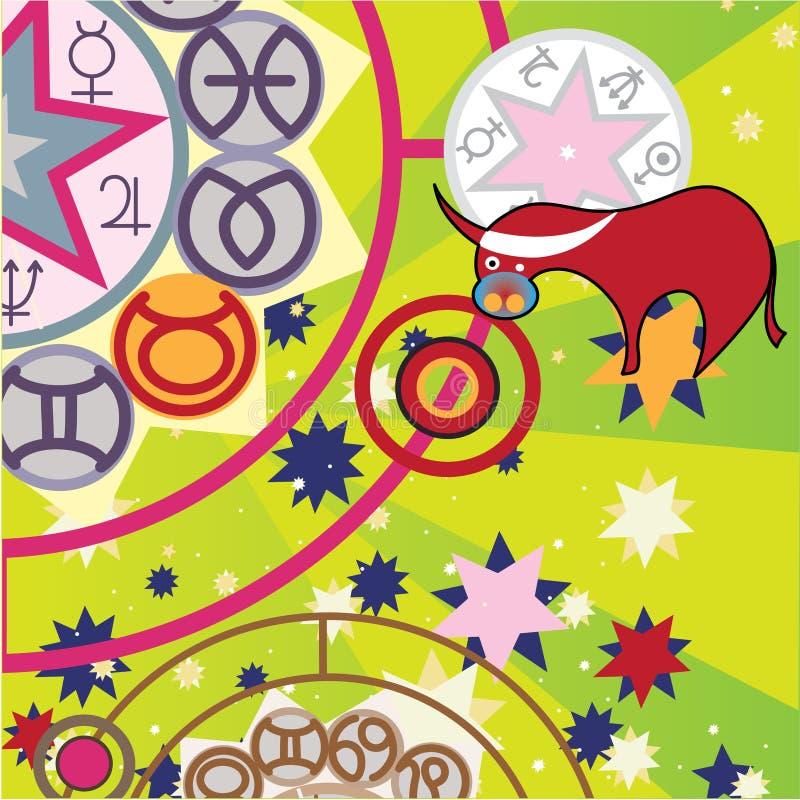 Taurus - mmoeu o sinal do zodíaco ilustração royalty free