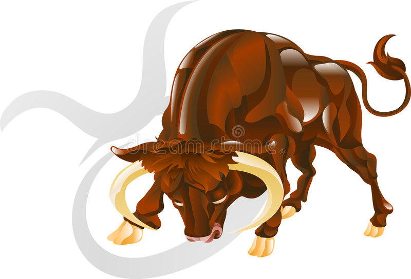 Taurus o sinal da estrela do touro ilustração stock