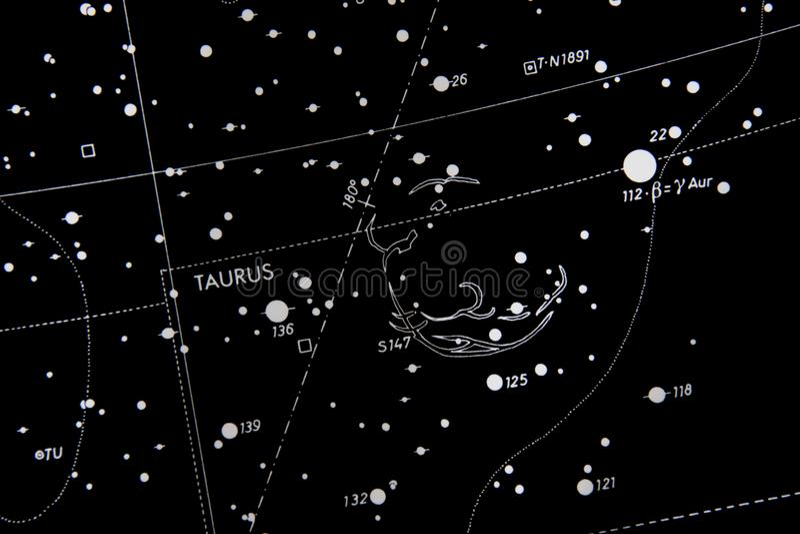 Taurus starmap zdjęcie royalty free