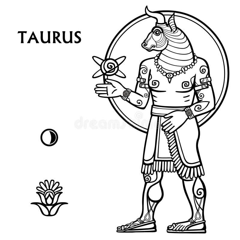 taurus wektora ilustracji znak zodiaku pełny przyrost royalty ilustracja
