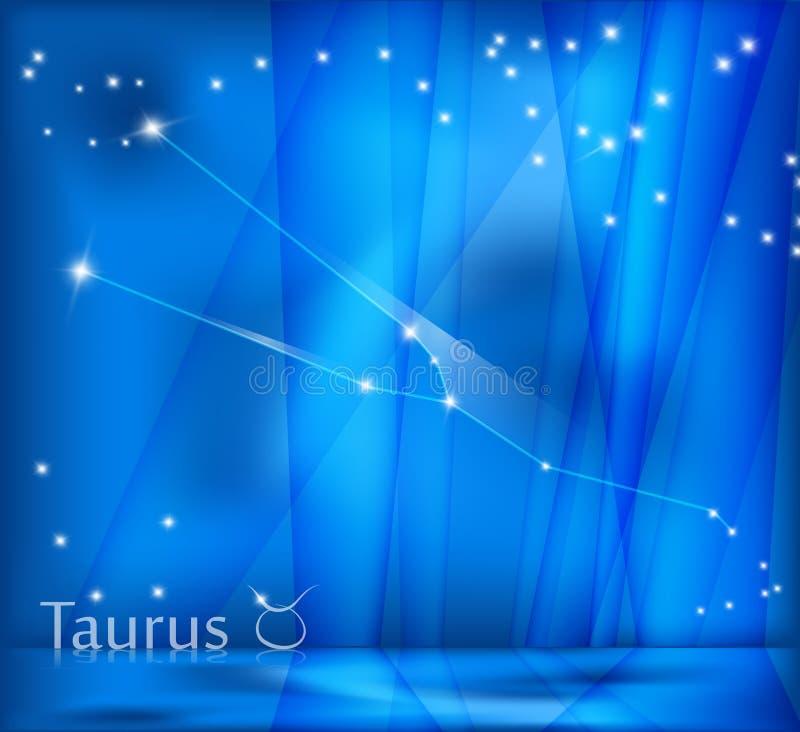 Taurus Zodiac Background ilustración del vector
