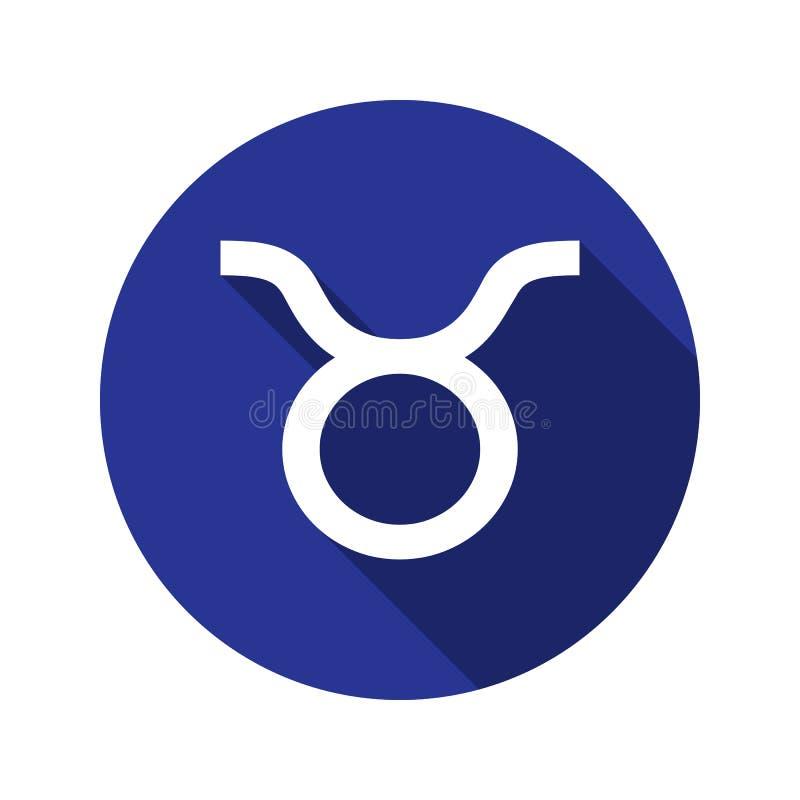 Taurus, zodiac sign in flat style stock illustration