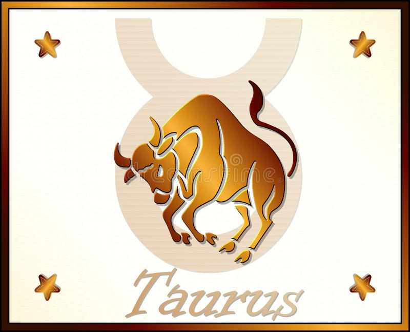 Taurus Zodiac Star Sign royalty-vrije illustratie