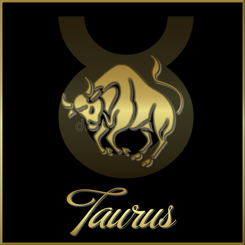 Taurus zodiac star sign. Background of taurus sign for horoscope royalty free illustration