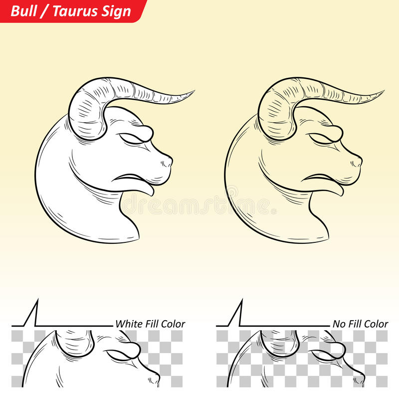 Taurus Zodiac Star Sign Sketch vector illustratie