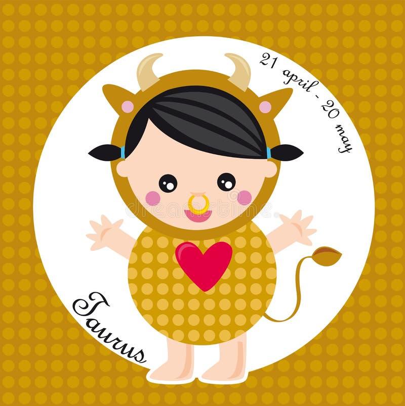 taurus zodiak royalty ilustracja