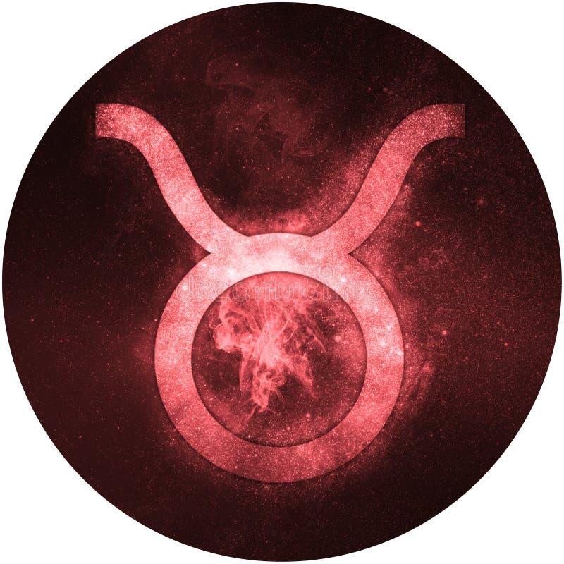 Taurus zodiaka znak Odizolowywający na białym tle ilustracji