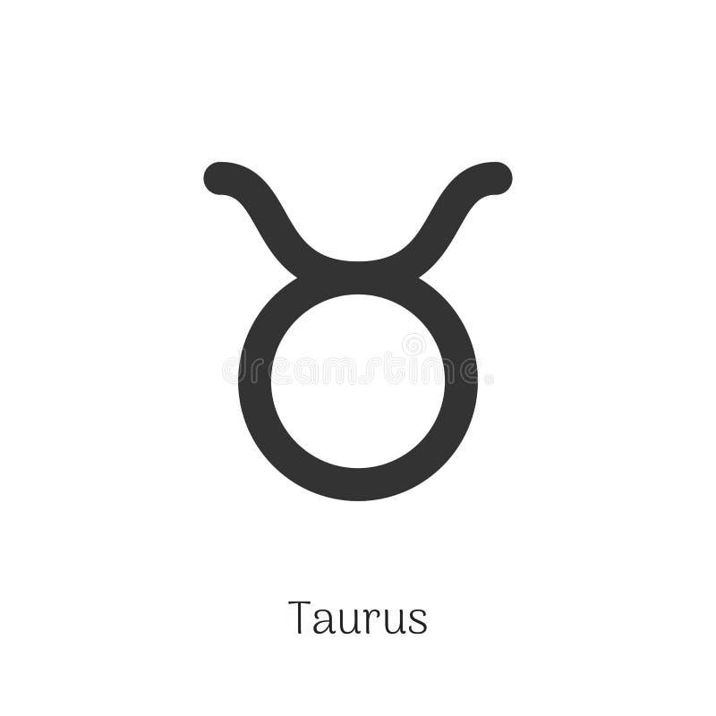Taurus zodiaka znak Odizolowywający na białym tle ilustracja wektor