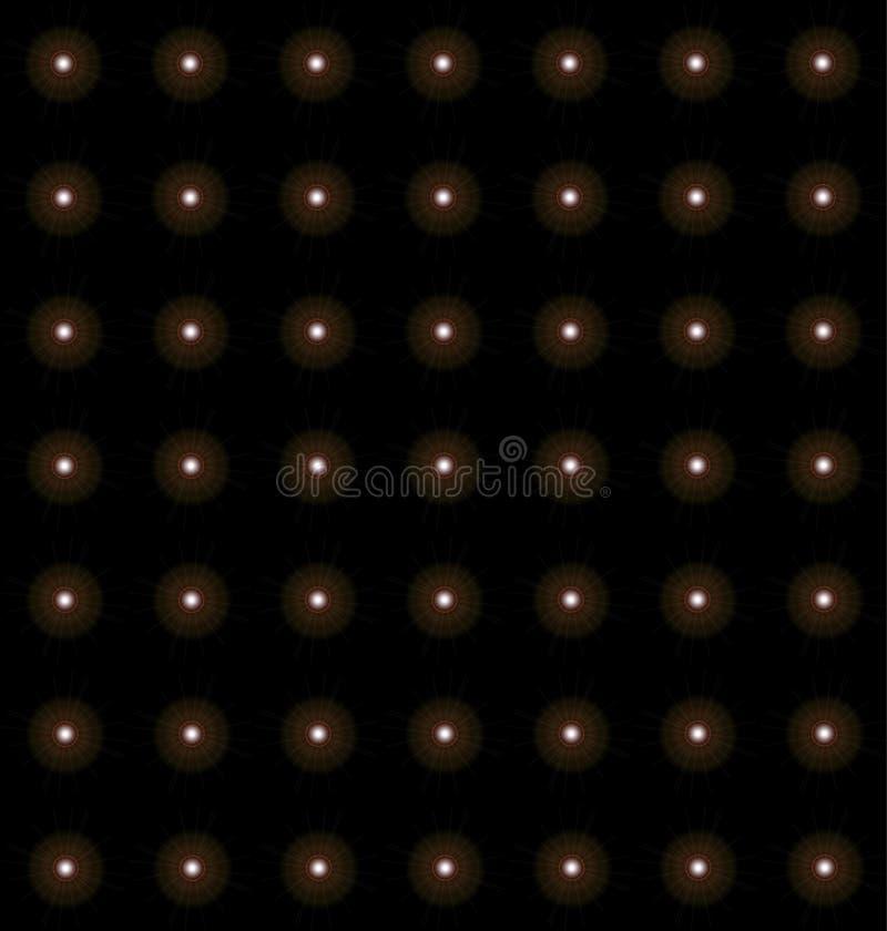 Indigoblau Neonsterne Periodisches Muster 13