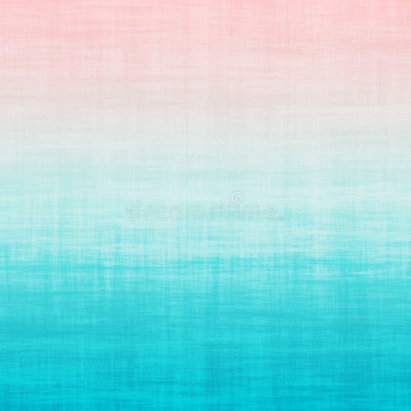 Tausendjähriger rosa Aqua Blue Teal Ombre Grunge-Steigungs-Pastell-Hintergrund stock abbildung