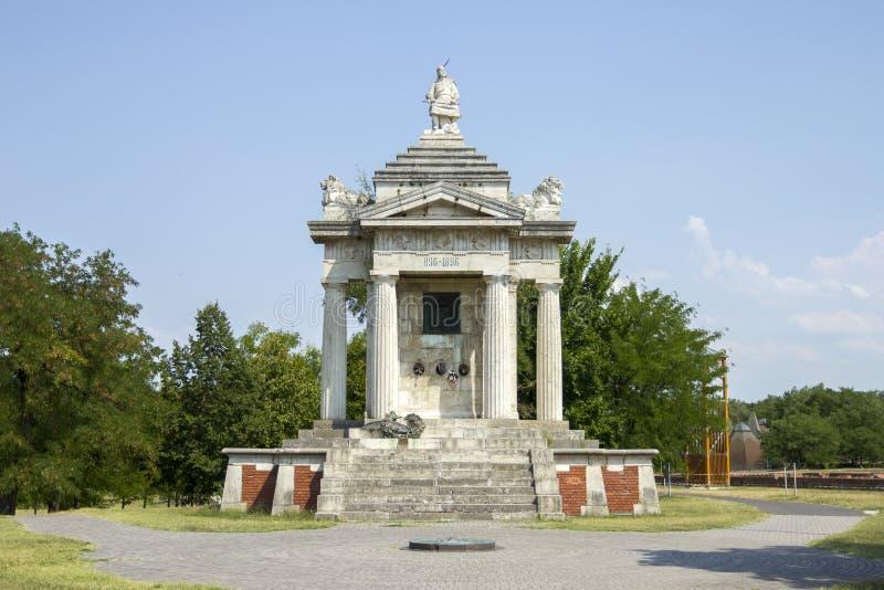 Tausendjähriges Denkmal von Arpad stockfoto