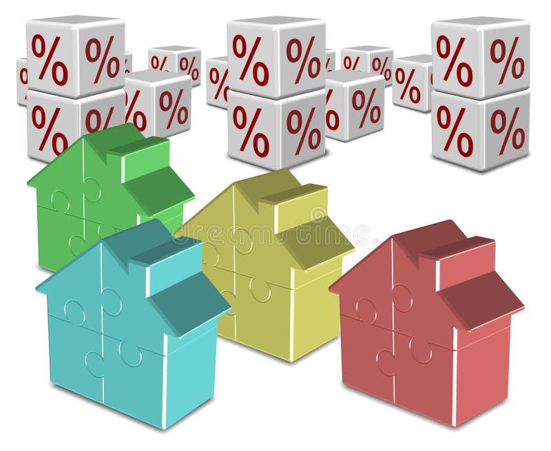 Taux d'hypothèque et d'intérêt illustration stock