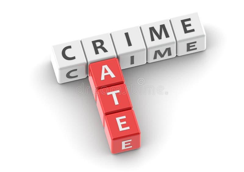 Taux de criminalité de mots à la mode illustration stock