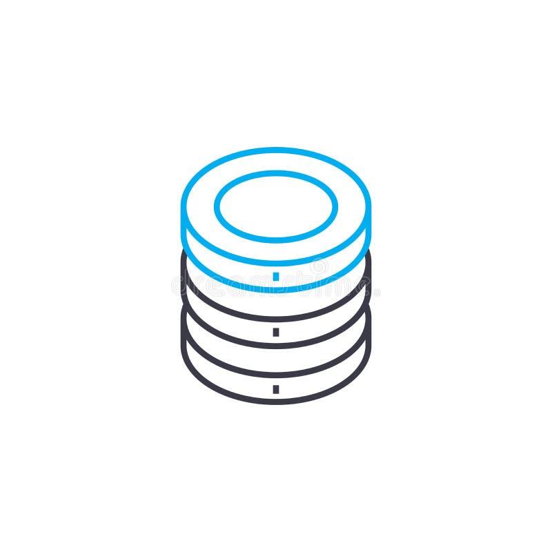 Taux de rendement la ligne mince icône de vecteur de course Taux de rendement l'illustration d'ensemble, signe linéaire, concept  illustration libre de droits