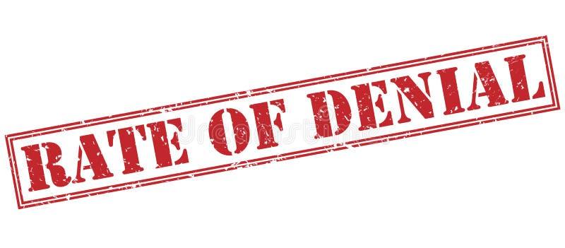 Taux de timbre rouge de démenti illustration libre de droits