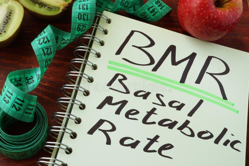 Taux métabolique basique de BMR image stock