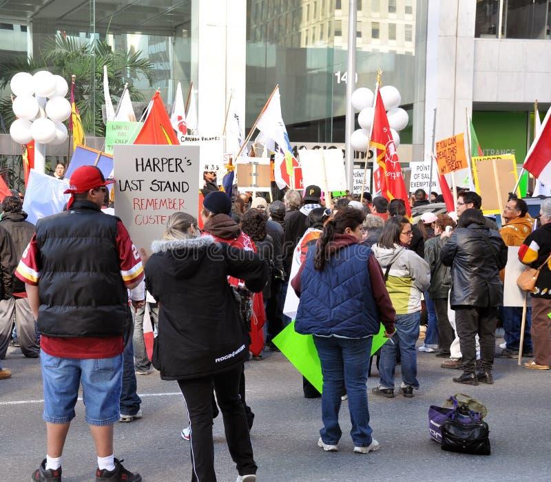 TAV di protesta dei nativi in Ottawa immagini stock libere da diritti