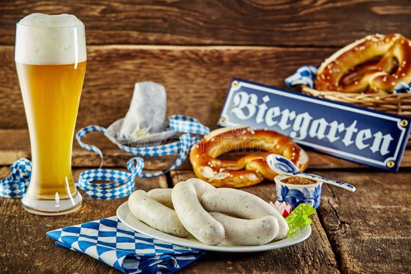 Tavern meal for the Munich Oktoberfest stock photo